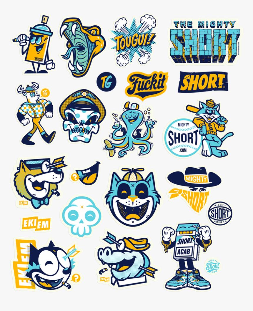 Stickers Ekiem Tougui Short Clear Stickers, Skull Art, - Sticker Cutting Logo Design, HD Png Download, Free Download