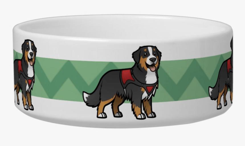Bernese Mountain Dog Pet Bowl - Bernese Mountain Dog, HD Png Download, Free Download