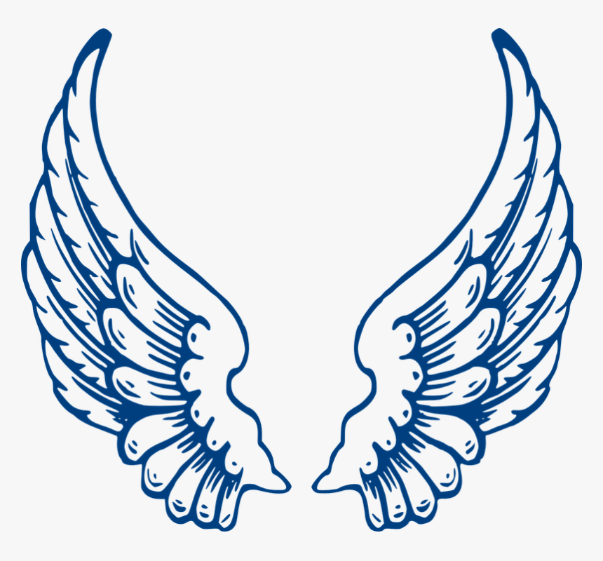 Angel, Wings, Blue, Feathers, Spread - Angel Wings, HD Png Download, Free Download