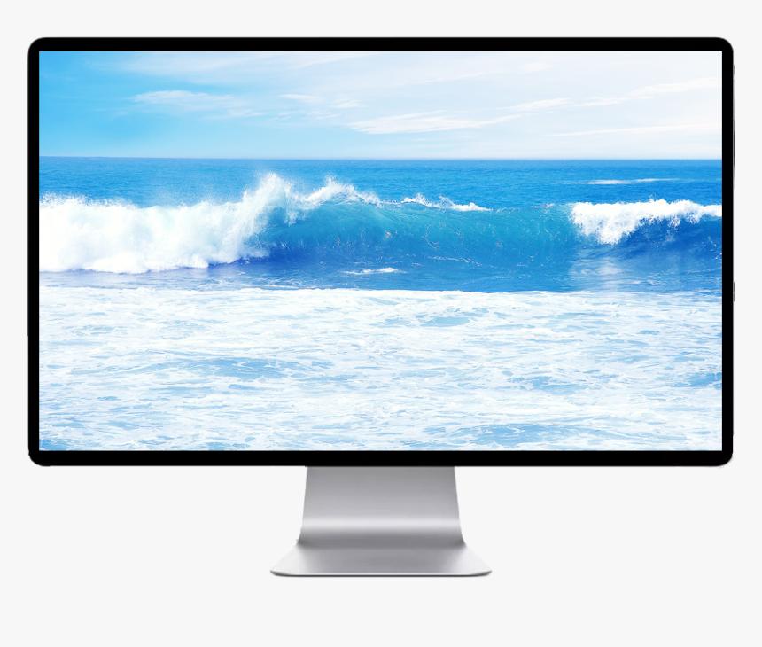 Light Blue Ocean Wave Background, HD Png Download, Free Download