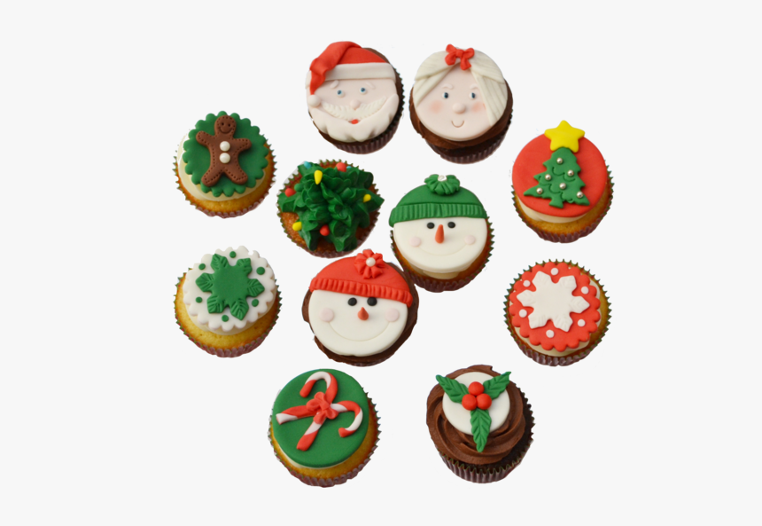 Christmas Cupcakes Toronto With Snowman Cupcakes Toppers, - Christmas Cupcakes Png, Transparent Png, Free Download