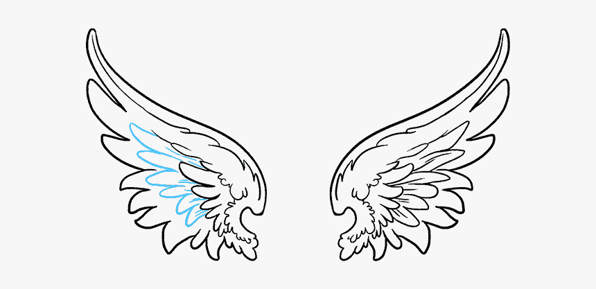 Drawing Feather Artistic - Angel Wings Png Vector, Transparent Png, Free Download