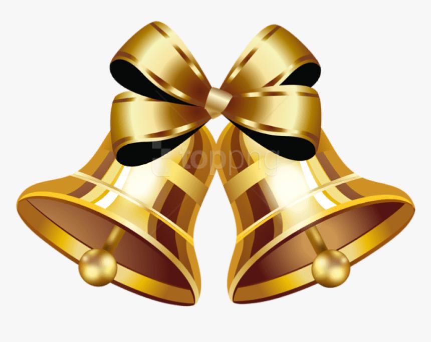 Transparent Bells Png Gold Wedding Bells Png Png Download Kindpng