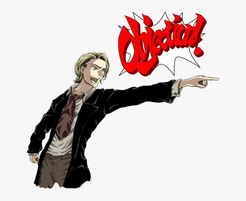 Ace Attorney Phoenix Wright Phoenix Wright Ace Attorney Objection Gif Hd Png Download Kindpng