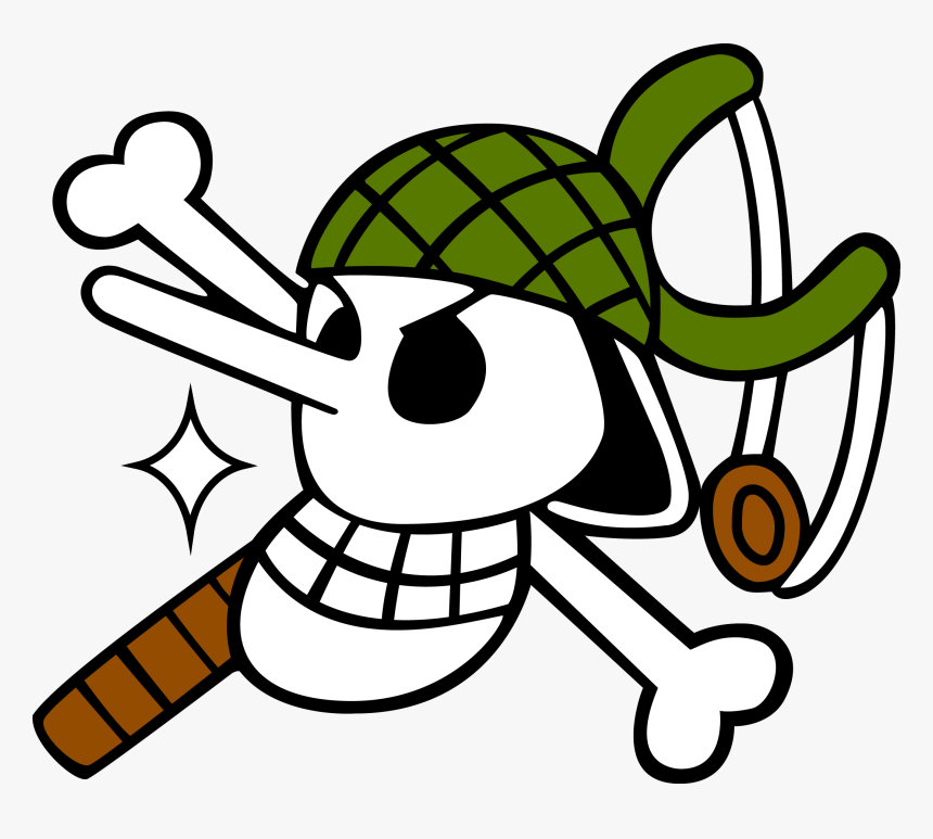 Transparent Zoro Clipart One Piece Usopp Skull Hd Png Download Kindpng
