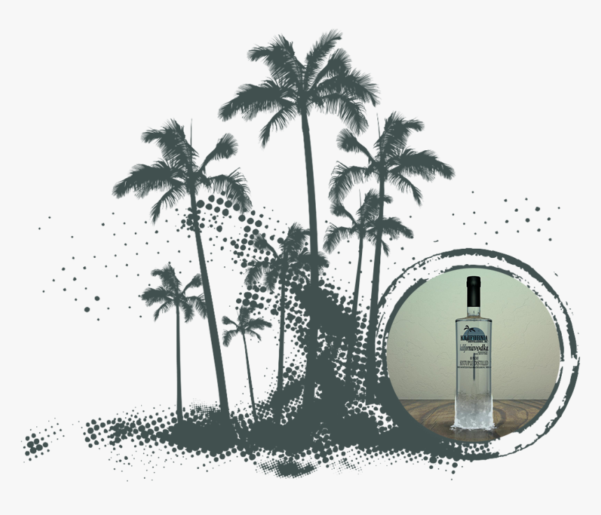 Vodka Palms - Vector Graphics, HD Png Download, Free Download