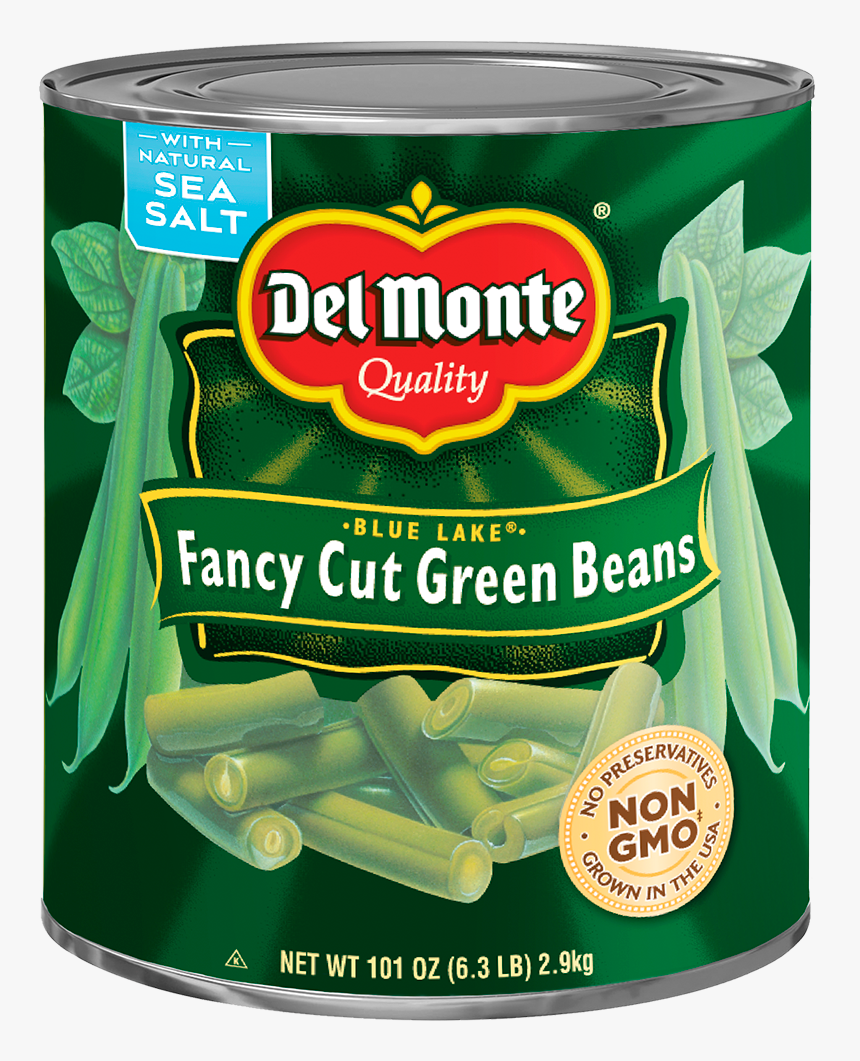Del Monte® Blue Lake® Fancy Cut Green Beans - #10 Can Green Beans, HD Png Download, Free Download