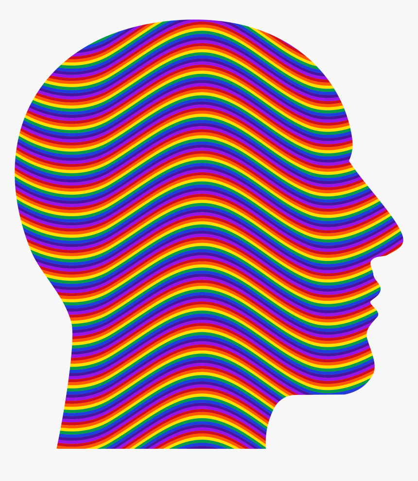 Rainbow Waves Head Clip Arts - Clothing, HD Png Download, Free Download