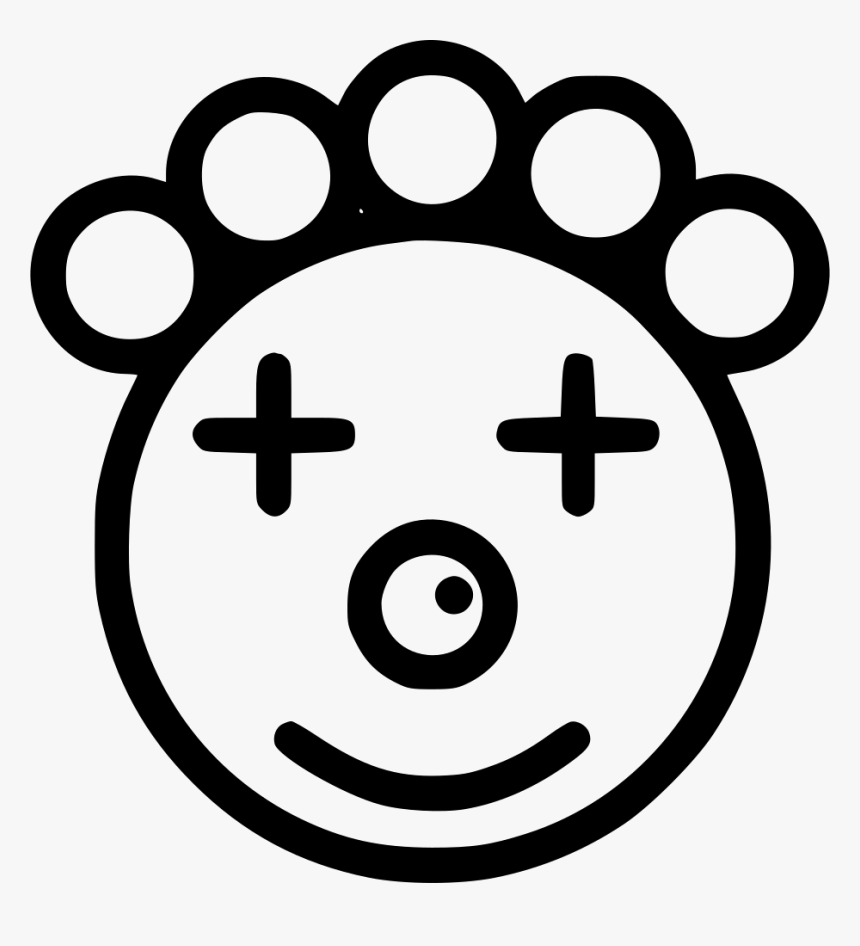 Clown Face - Impressed Icon, HD Png Download, Free Download