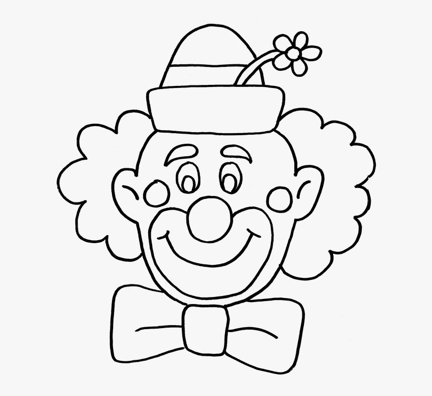 Clown, Circus, Fun, Coloring Book - Happy Clown Clipart ...