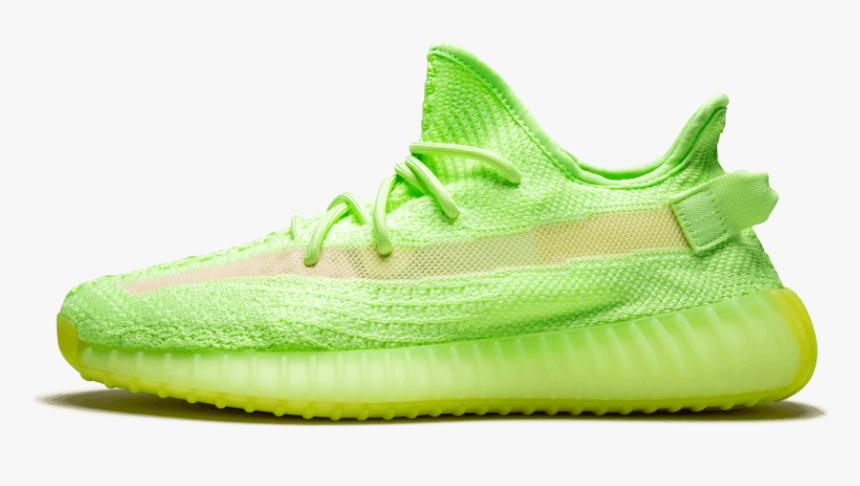 "Adidas Yeezy Boost 350 V2 ""glow In The Dark - Yeezy 350 V2 Glow In The Dark Top, HD Png Download, Free Download"