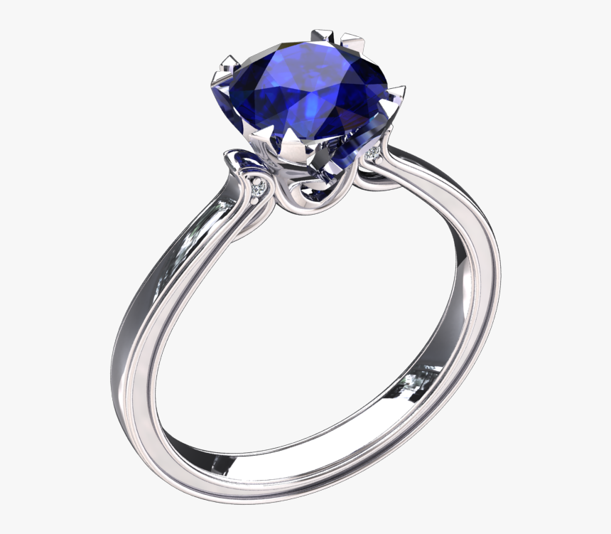 50 Carat Lab Grown Blue Sapphire Solitaire 14k Gold - Rose Gold Ring Pink Diamond Solitaire, HD Png Download, Free Download