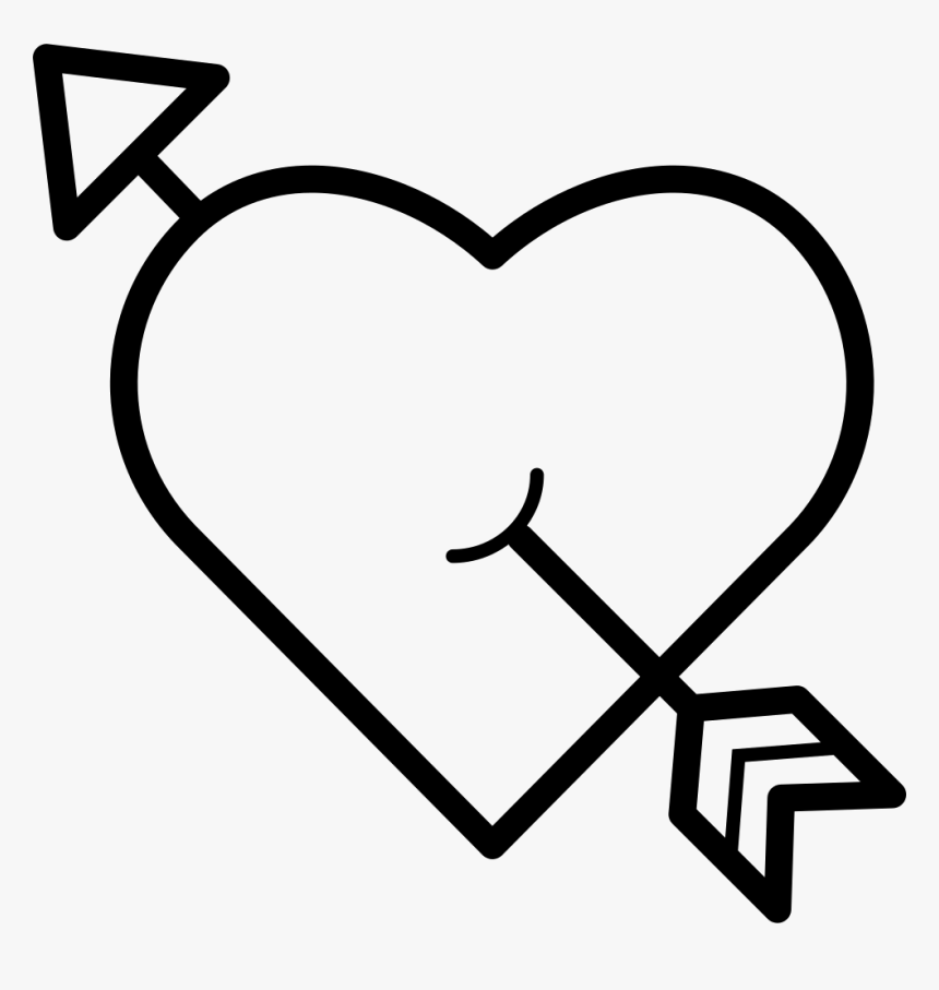 Png File Svg - Heart With Arrow Through, Transparent Png, Free Download