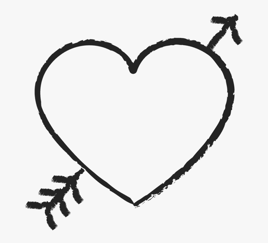 Cute Arrow Png - Heart With Arrow Through, Transparent Png, Free Download