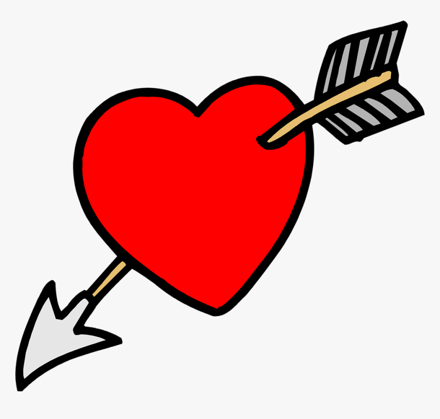Heart Arrow - Arrow Through A Heart, HD Png Download, Free Download
