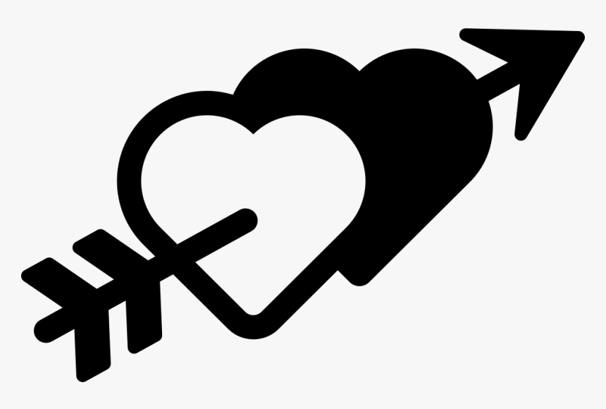 Hearts And Arrow - Heart Arrow Icon Png Transparent, Png Download, Free Download