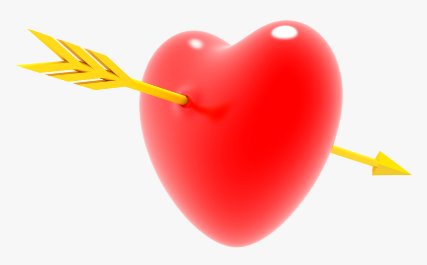 Heart With Arrow Png - Heart, Transparent Png, Free Download