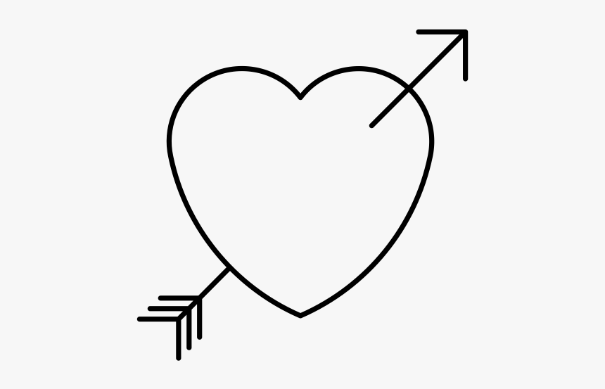 """  Class=""lazyload Lazyload Mirage Cloudzoom Featured - Black And White Heart With Arrow, HD Png Download, Free Download"