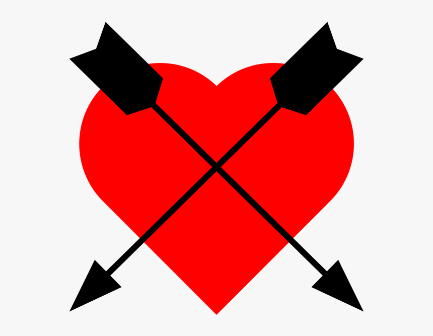 Icon Heart Arrow Free Picture - Liebeswappen, HD Png Download, Free Download