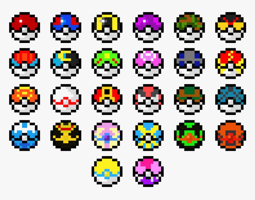 Pixel Art Poke Ball Hd Png Download Kindpng