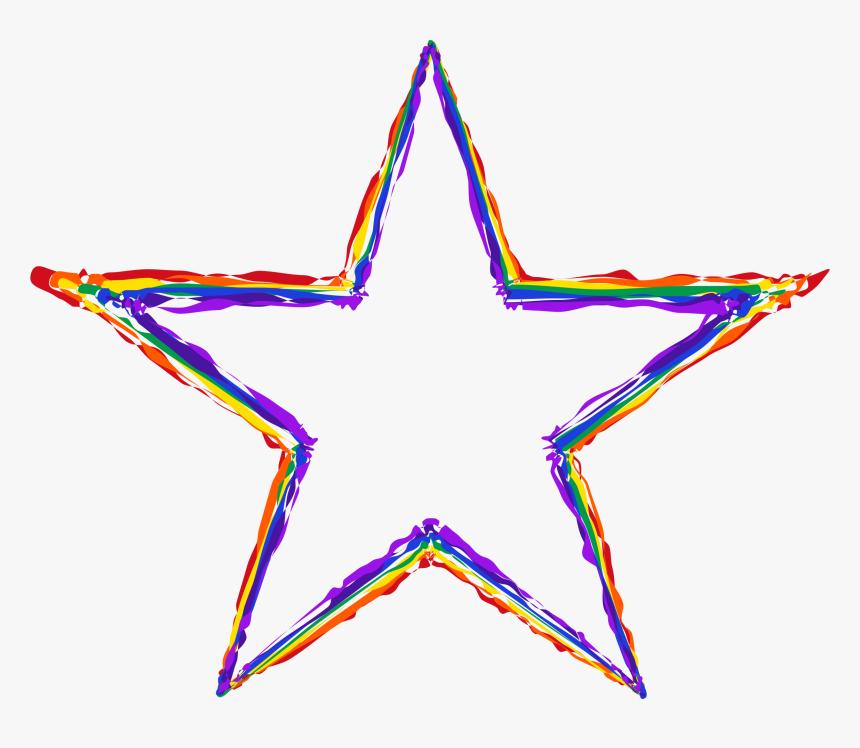 Svg Star Rustic - Watercolor Star Art, HD Png Download, Free Download