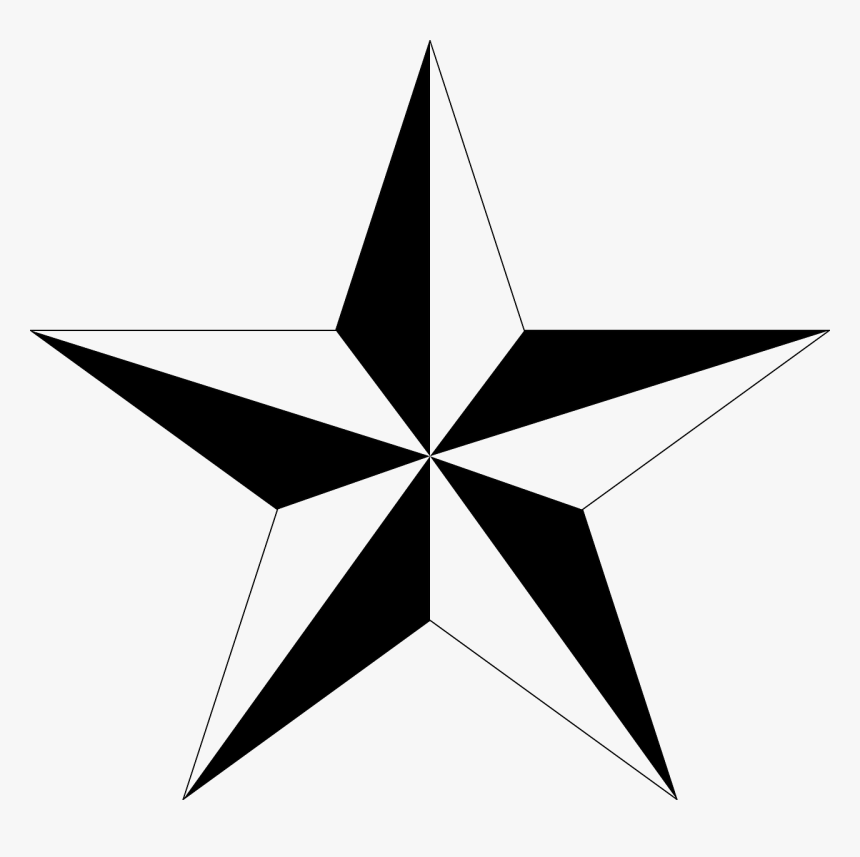 3d 5 Point Star, HD Png Download, Free Download