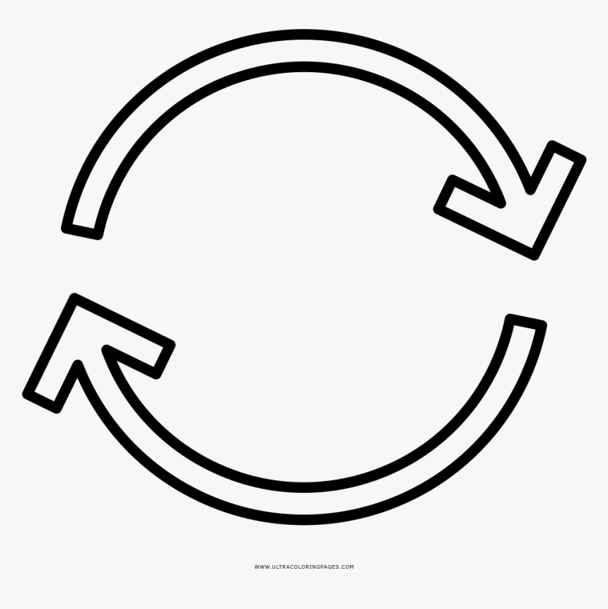 Circle Arrow Coloring Page, HD Png Download, Free Download