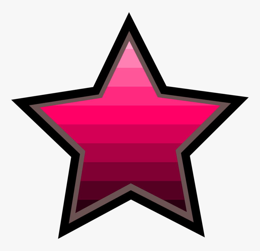 Transparent Pink Star Png - Kırmızı Yıldız Temas Izolasyonu, Png Download, Free Download