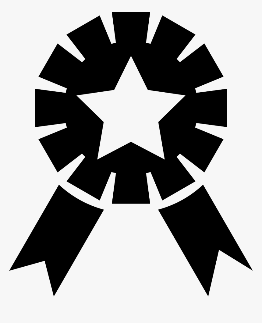Ribbon Award With Star Shape - Captain America Silhouette, HD Png Download, Free Download