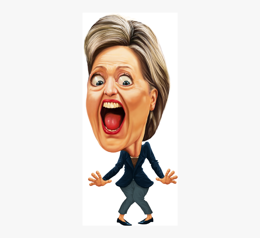 Caricature Hilary Clinton, HD Png Download, Free Download