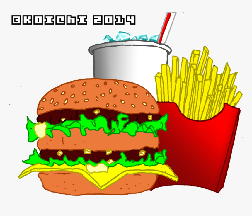 Transparent Mcdonalds Fries Png Mcdonalds Big Mac Cartoon Png