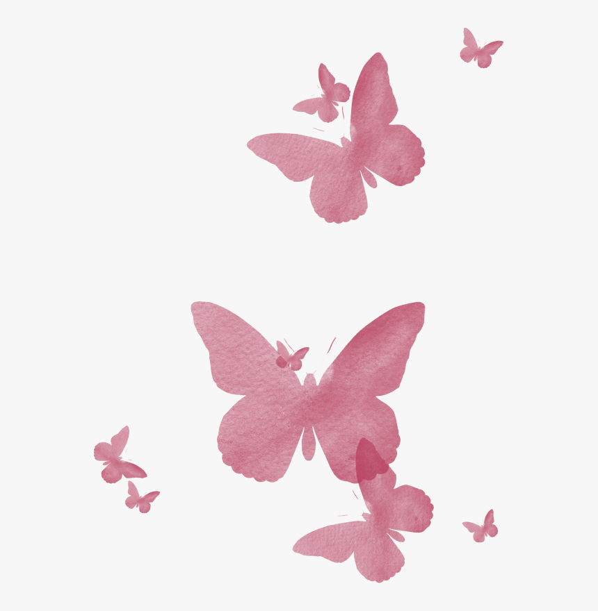 Transparent Pink Butterfly Png - Pink Butterfly Watercolor Png, Png Download, Free Download