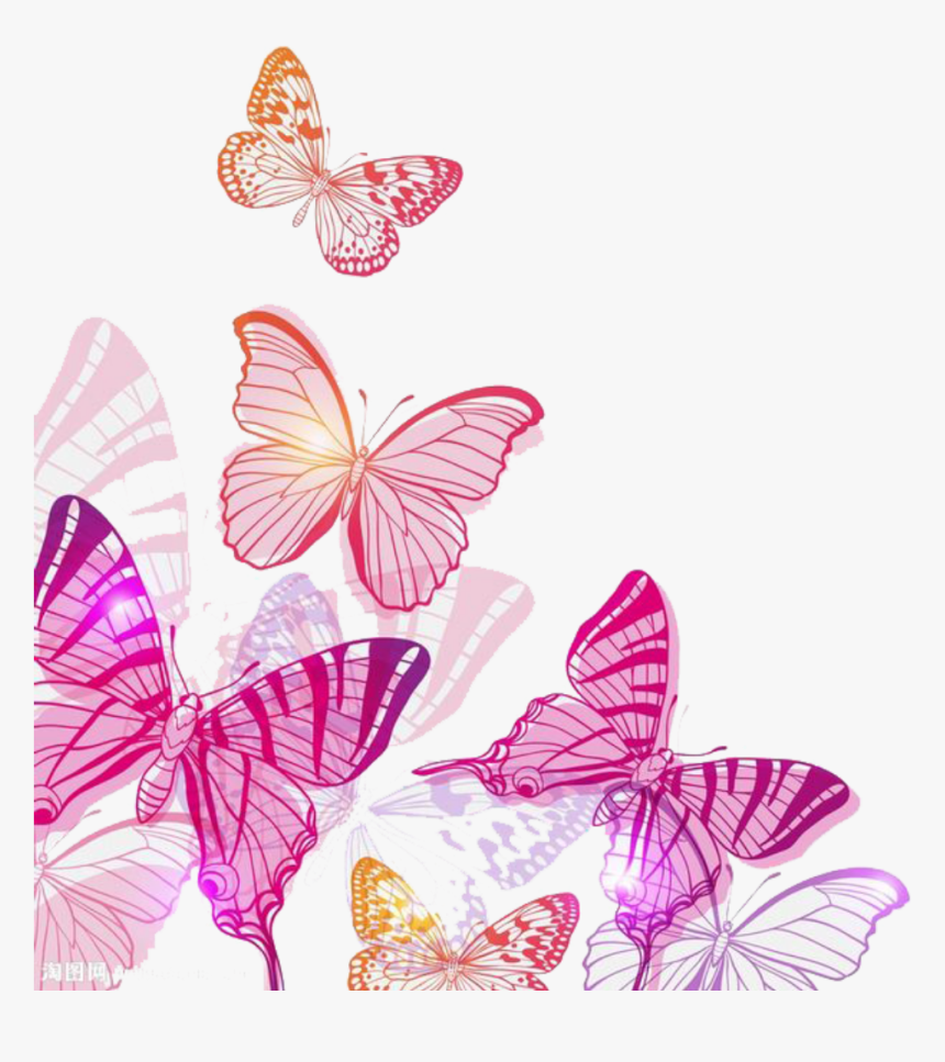 Transparent Watercolor Butterfly Clipart - Clipart Pink Butterfly Png, Png Download, Free Download