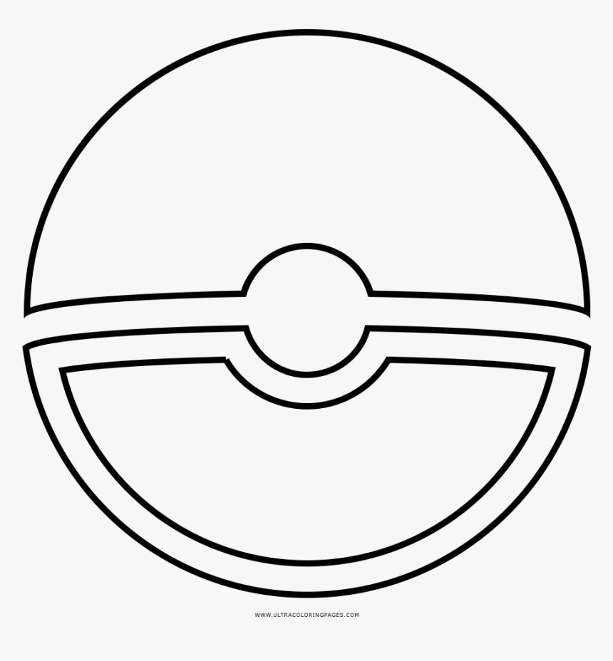 Pokeball Coloring Page - Circle, HD Png Download, Free Download