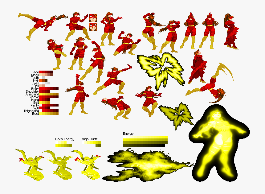 Dead Pool Sprite Sheet, HD Png Download, Free Download