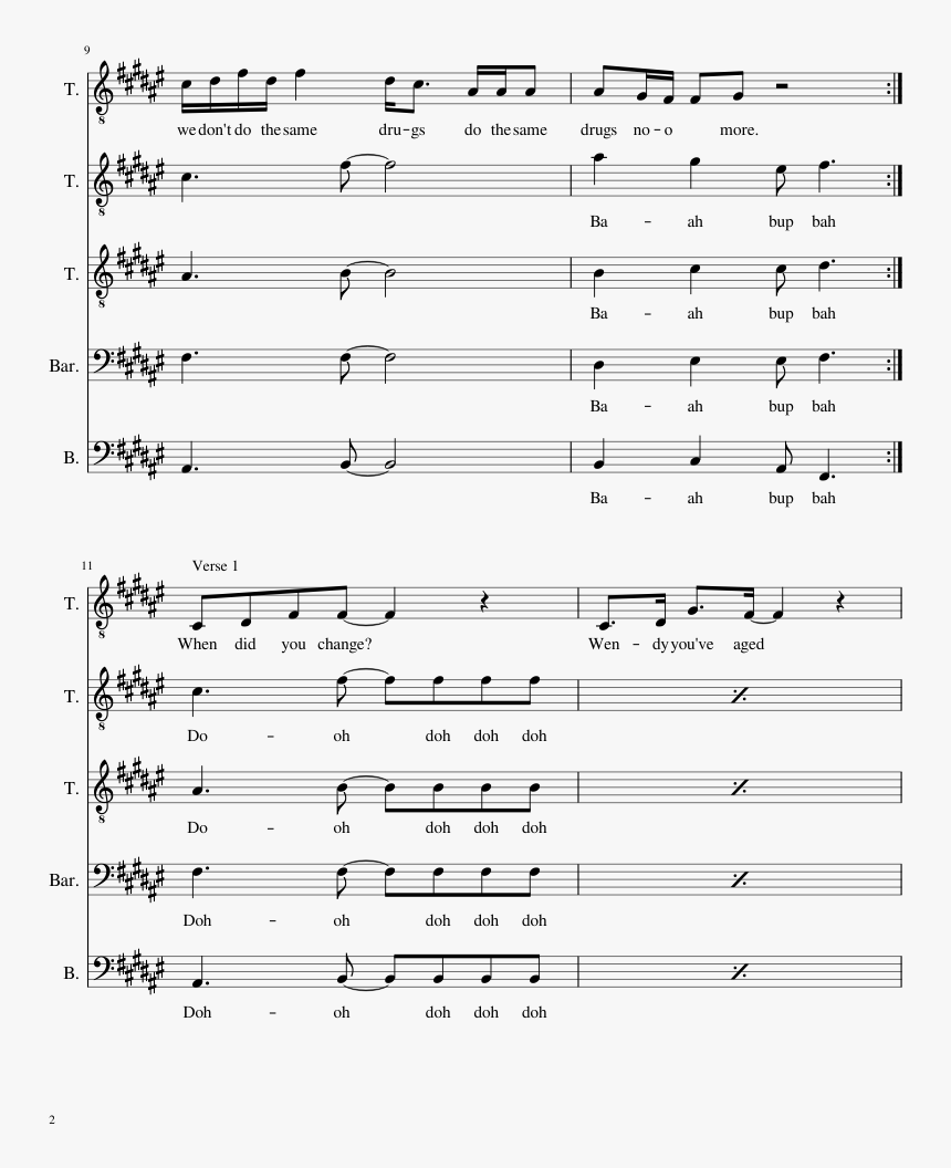 Chance The Rapper Same Drugs Sheet Music For Piano - Same Drugs Piano Sheet Music Free Pdf, HD Png Download, Free Download