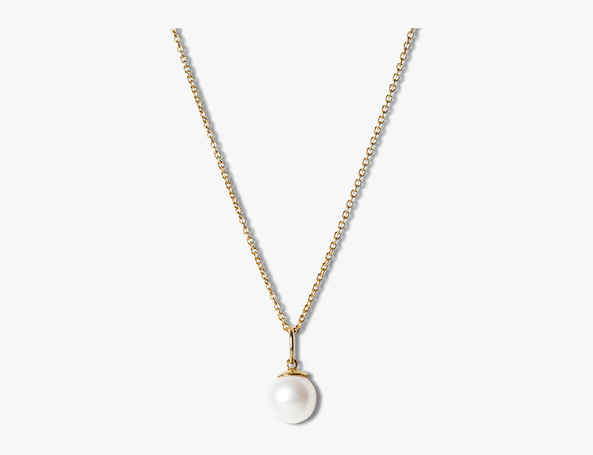"""Combination Of An Anchor Chain And Big Pearl Pendant""""  - Moonstone And Opal Necklace Gold, HD Png Download, Free Download"""
