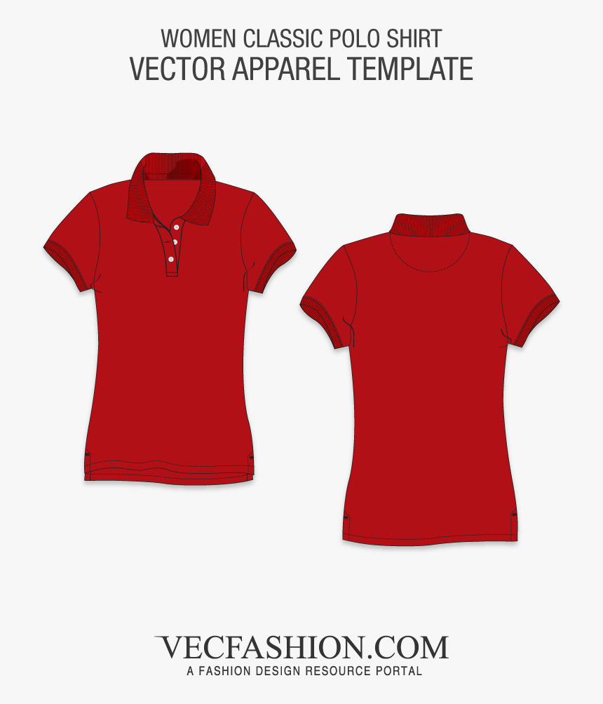 Transparent Shirt Outline Png - Polo Shirt Women Template, Png Download, Free Download