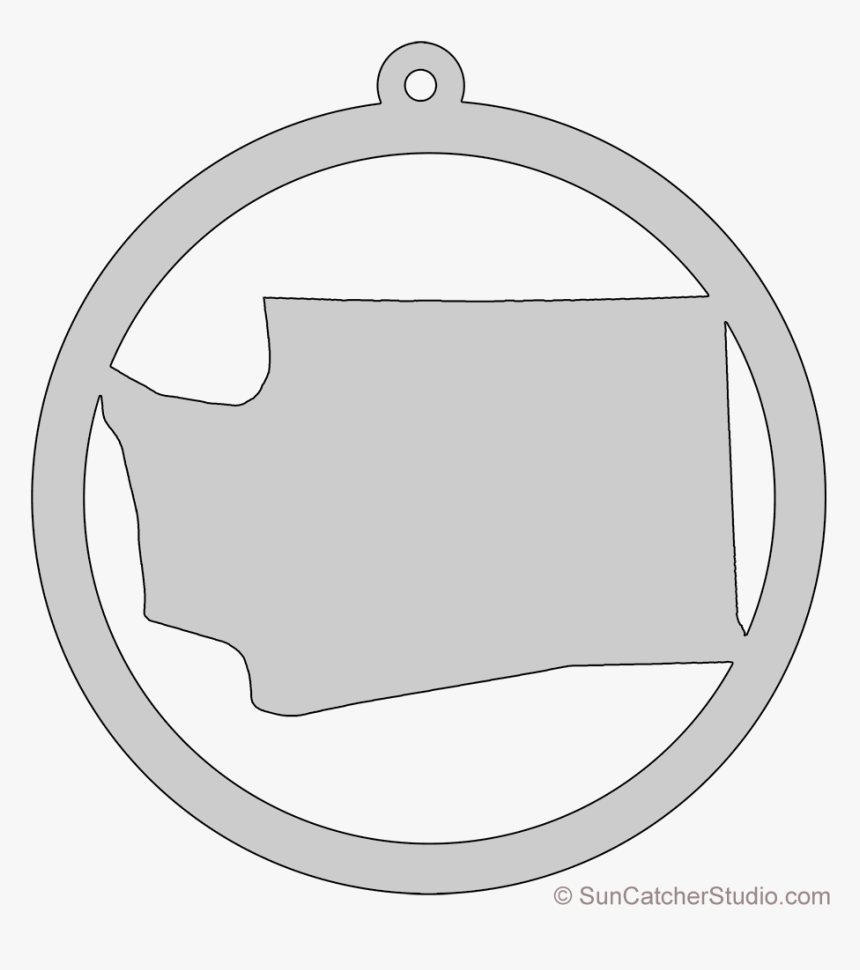 Washington State Outline Png - Circle, Transparent Png, Free Download