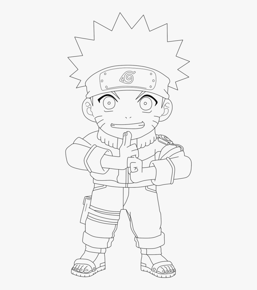 Desenho De Naruto Chibi Para Colorir - Para Colorear De Naruto, HD Png Download, Free Download