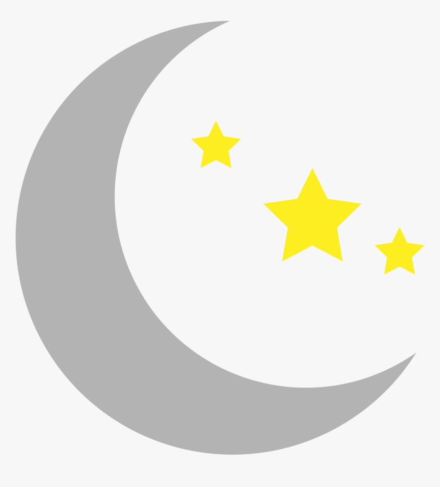 Moon Star And Crescent Clip Art - Moon And Stars Clipart, HD Png Download, Free Download