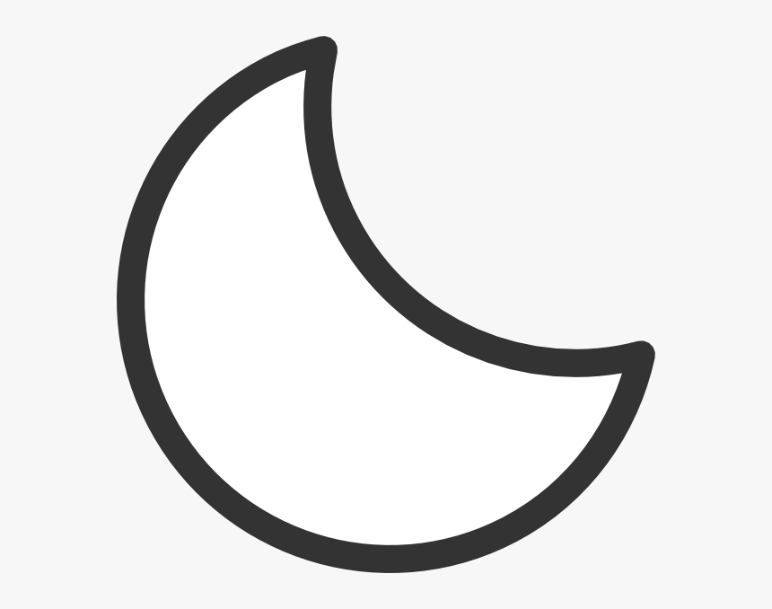 Black Stars And Moon Images Png Image Clipart - Crescent Moon Clipart Black And White, Transparent Png, Free Download