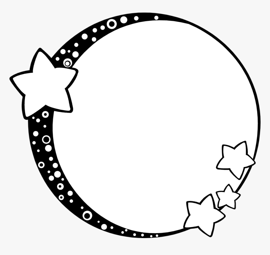 Illustration Of A Blank Frame Border With Stars - Moon And Stars Frame, HD Png Download, Free Download