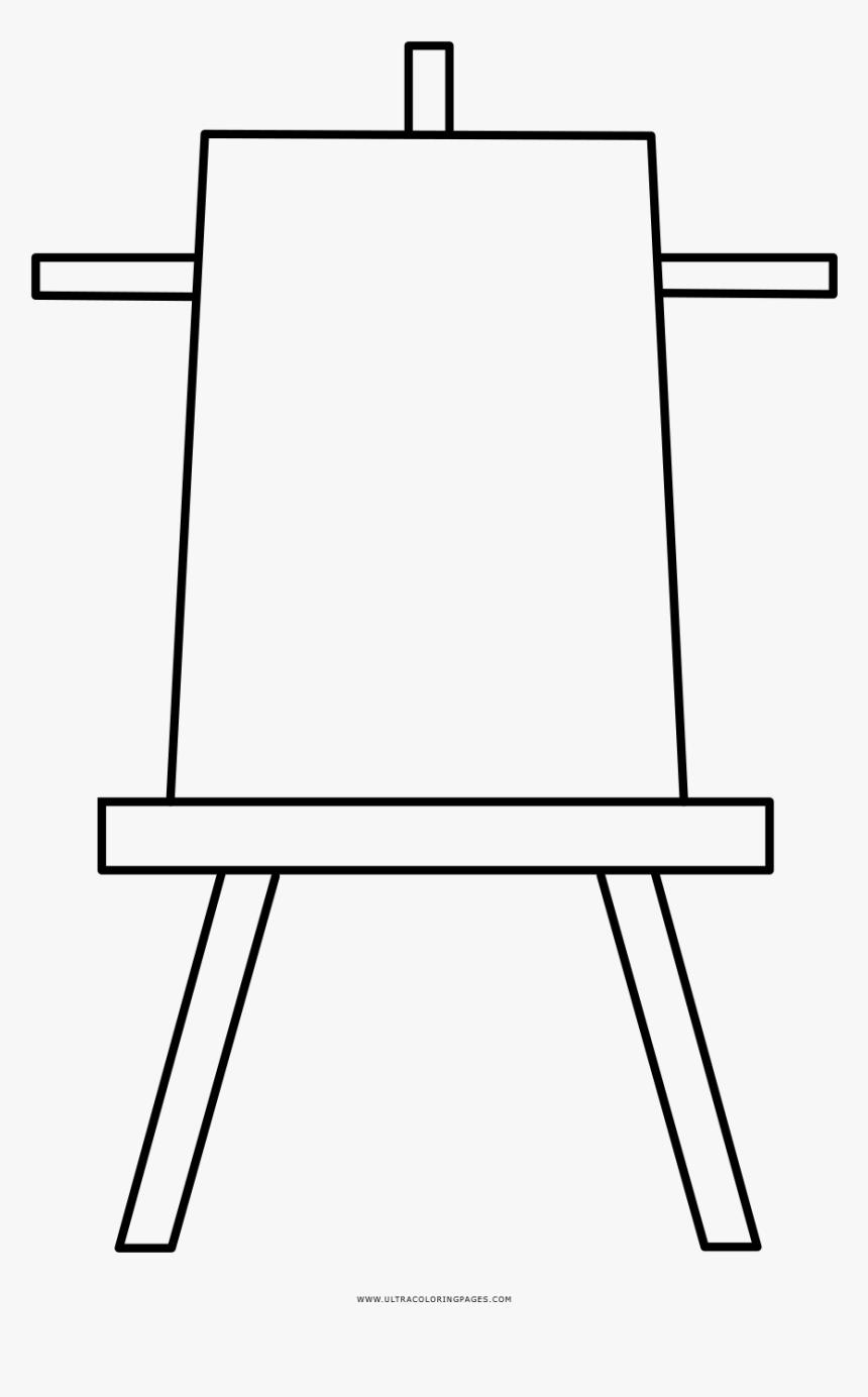 Easel Coloring Page - Caballetes Para Dibujo Para Colorear, HD Png Download, Free Download