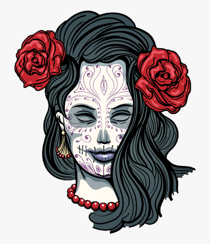 Day Of The Dead Girl Transparent , Transparent Cartoons - Transparent Day Of The Dead Clipart, HD Png Download, Free Download