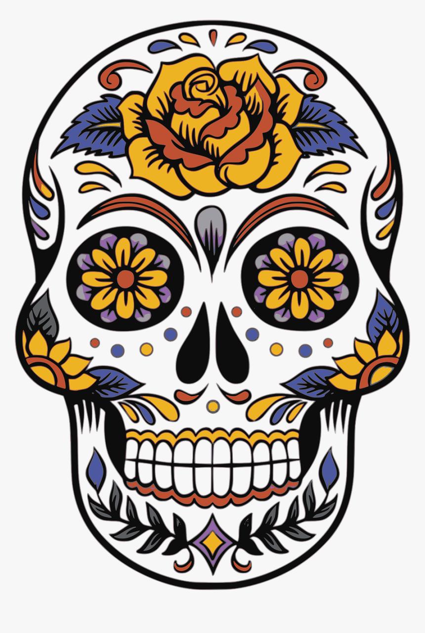 Tete De Mort Mexicaine Hd Png Download Kindpng