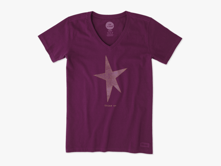 """Women""""s Shine On Star Crusher Vee - Active Shirt, HD Png Download, Free Download"""
