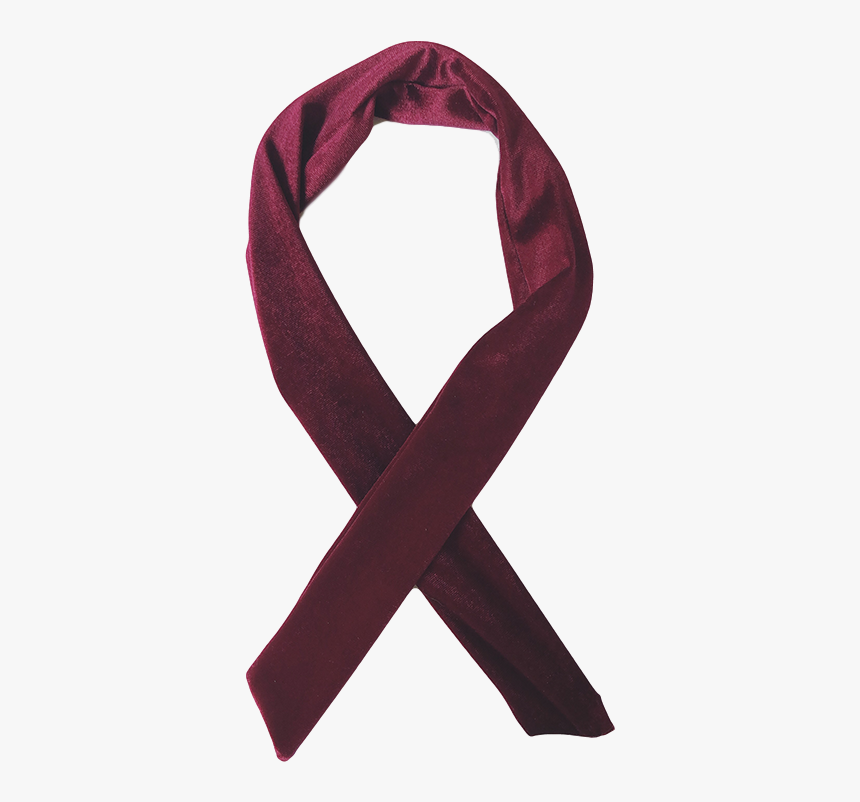 """Garnet Red Wired Velvet Headwrap""""  Class=""""lazyload - Scarf, HD Png Download, Free Download"""