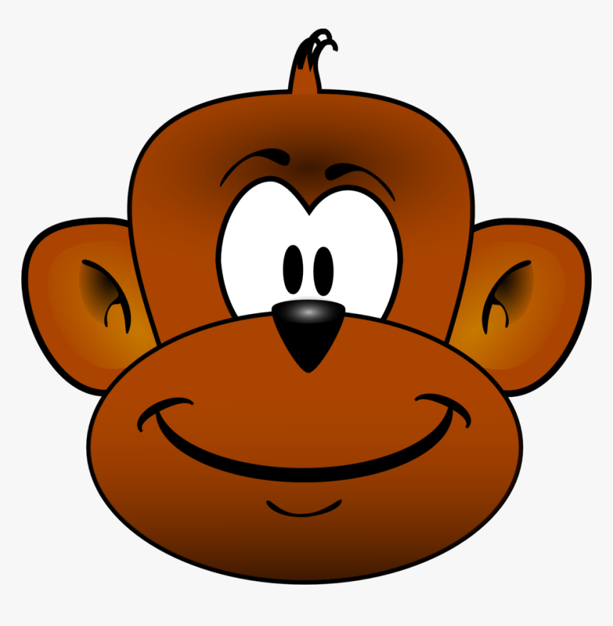 Baby Monkey Face Clip Art - Monkey Head Clipart, HD Png Download, Free Download