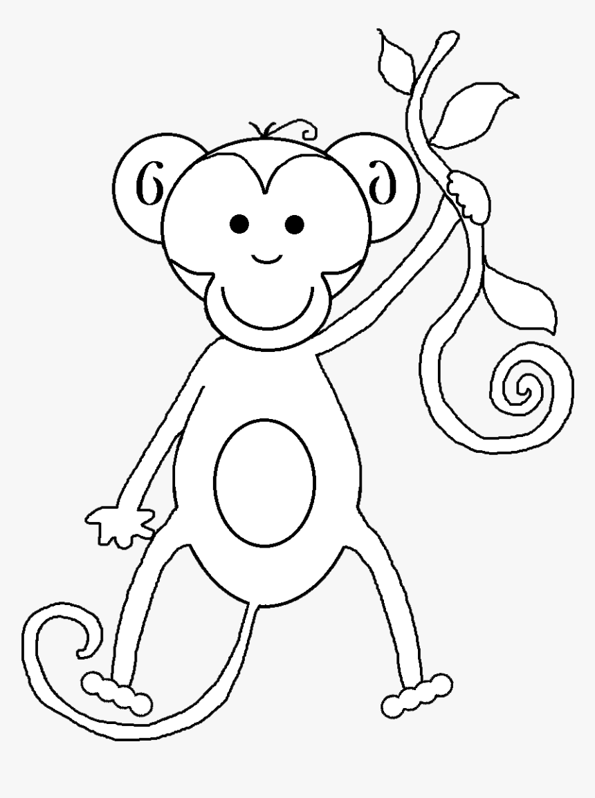 Transparent White Tiger Clipart - Cartoon Monkey Black Background, HD Png Download, Free Download